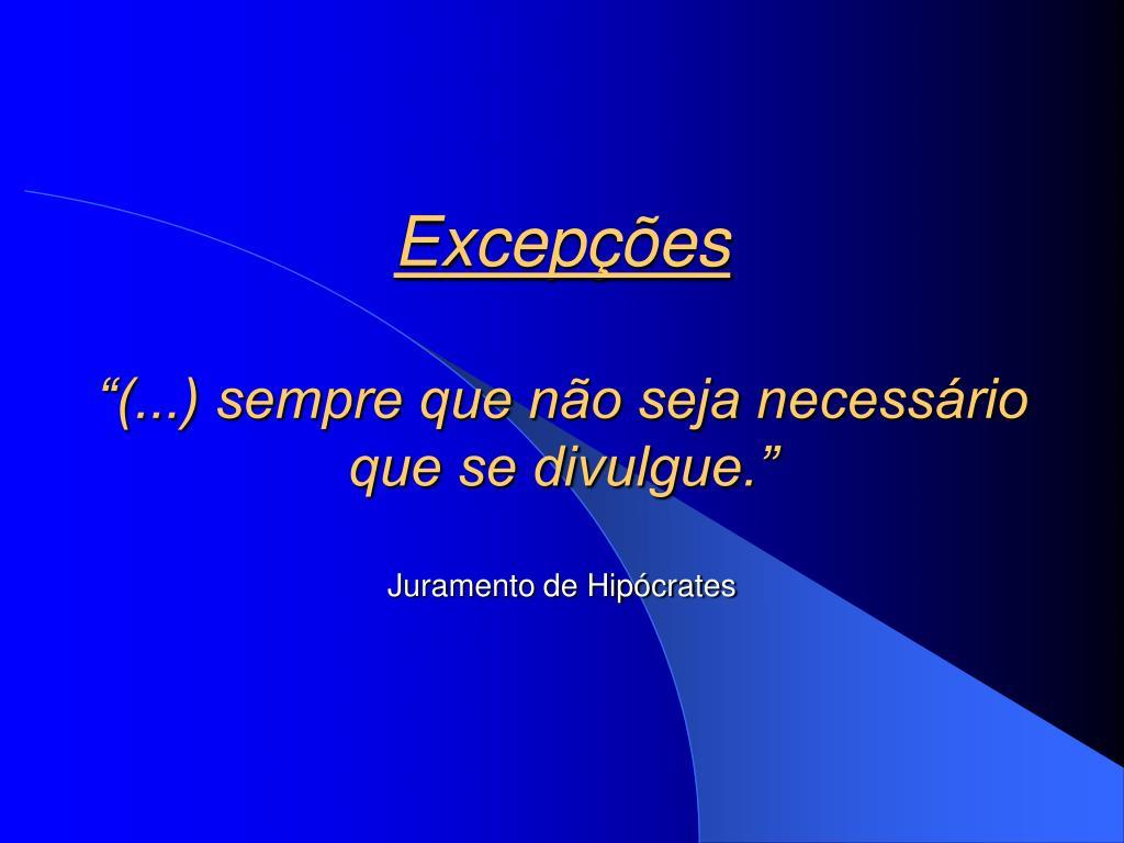 Excepções