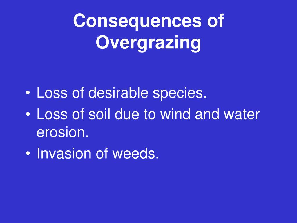 Consequences of Overgrazing