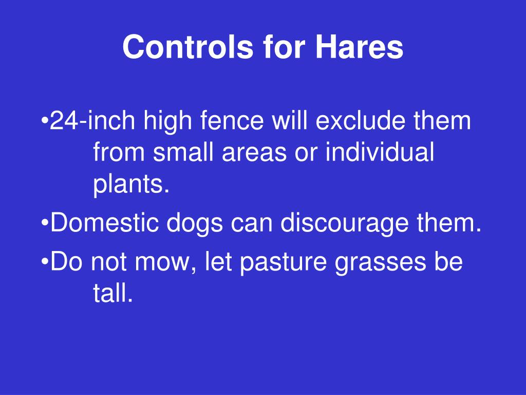 Controls for Hares