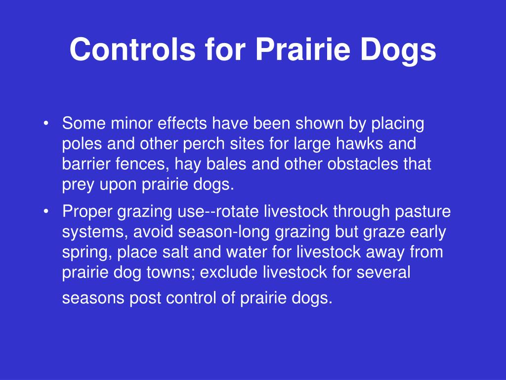 Controls for Prairie Dogs