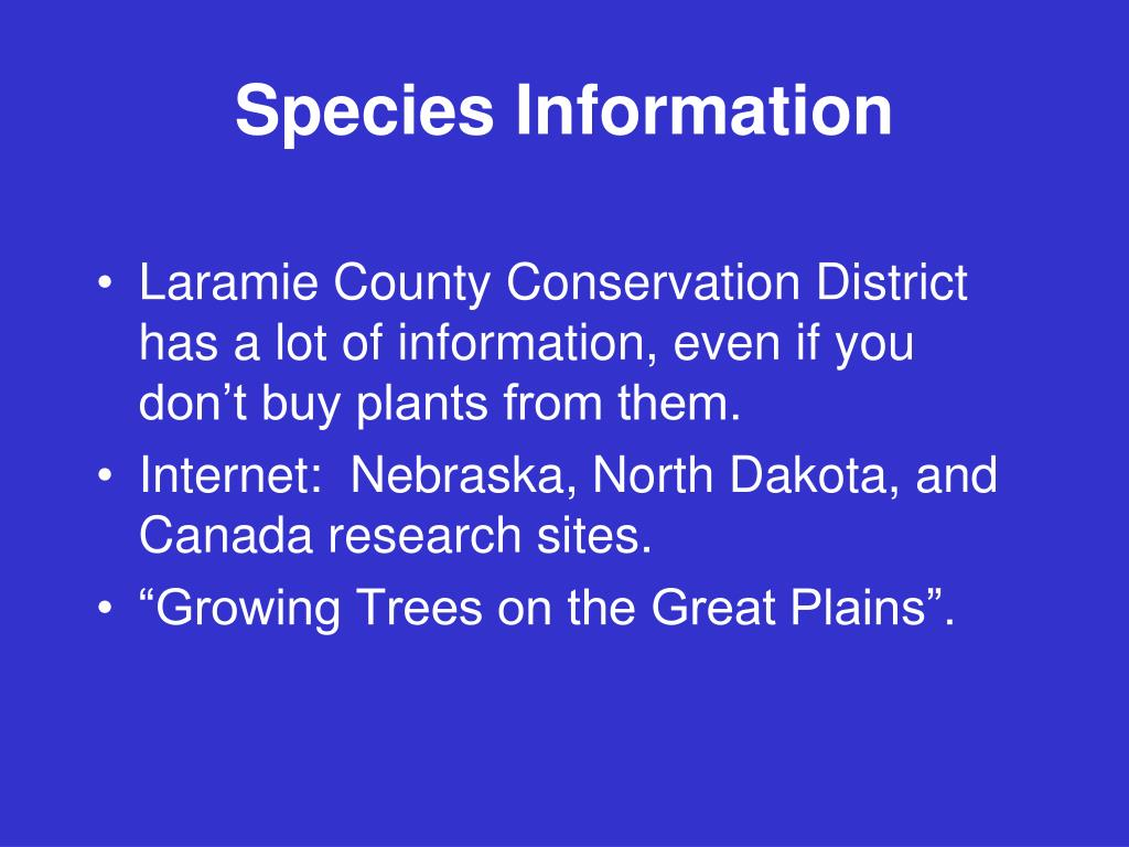 Species Information