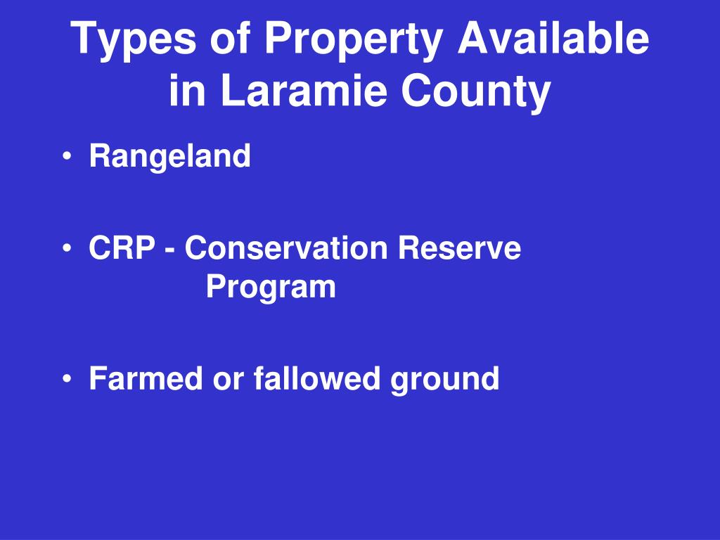 Types of Property Available in Laramie County