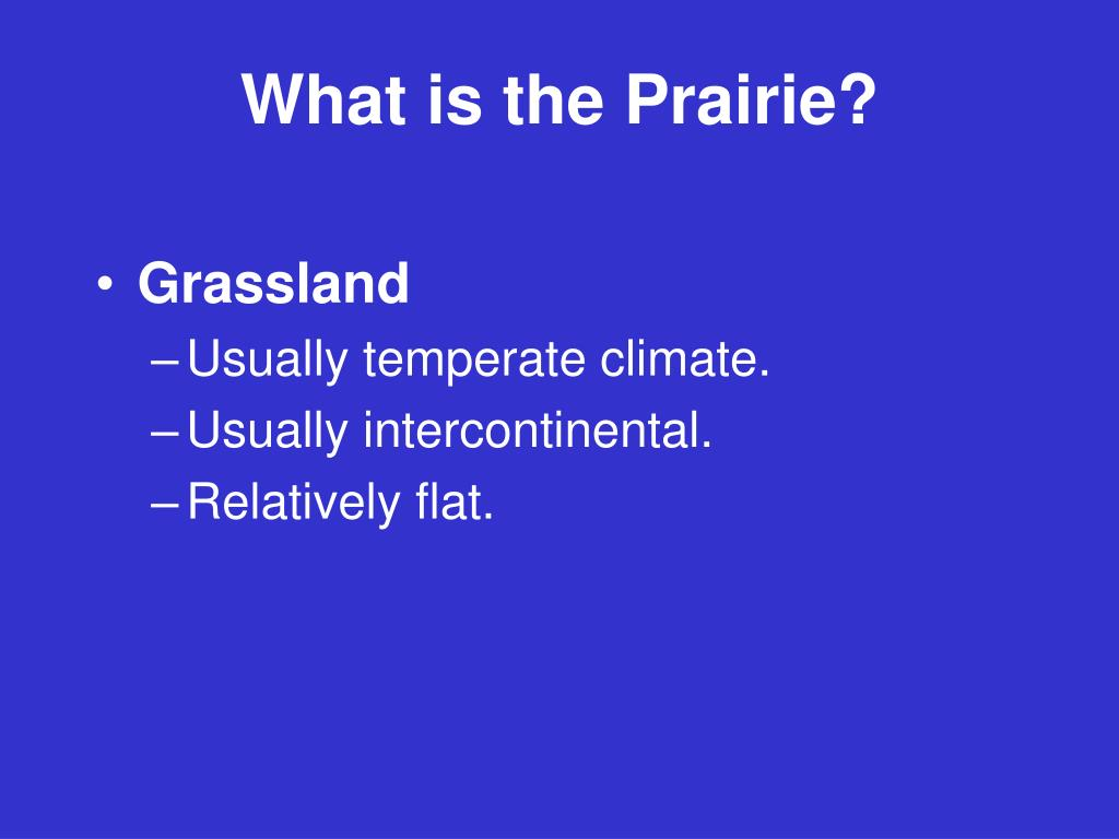 What is the Prairie?