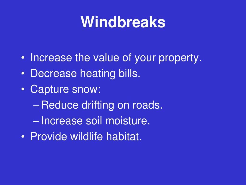 Windbreaks