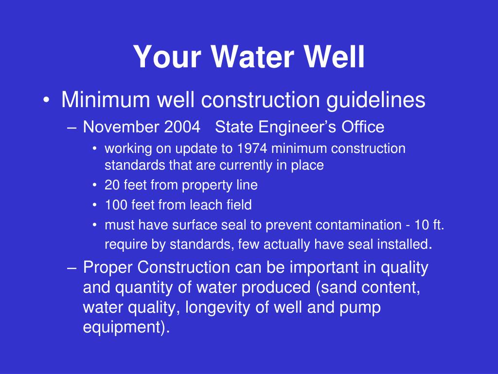 Your Water Well