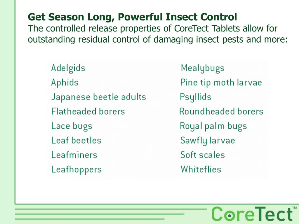 Get Season Long, Powerful Insect Control