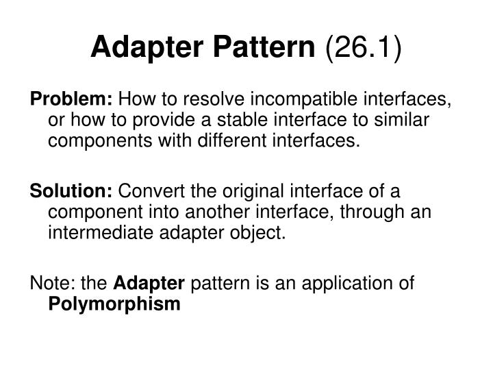Adapter pattern 26 1