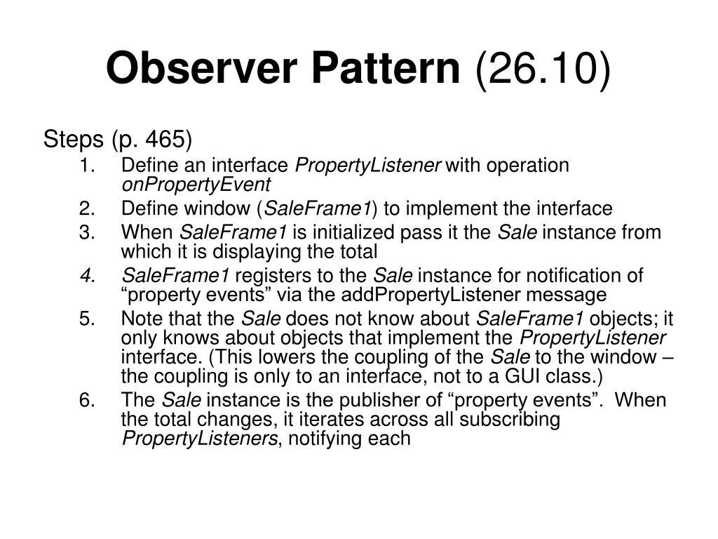 Observer Pattern