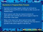 nutrients in tropical rain forests9