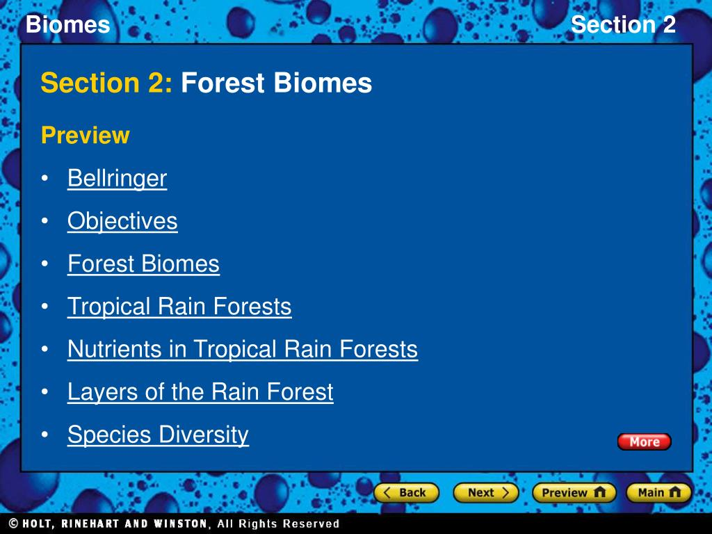section 2 forest biomes