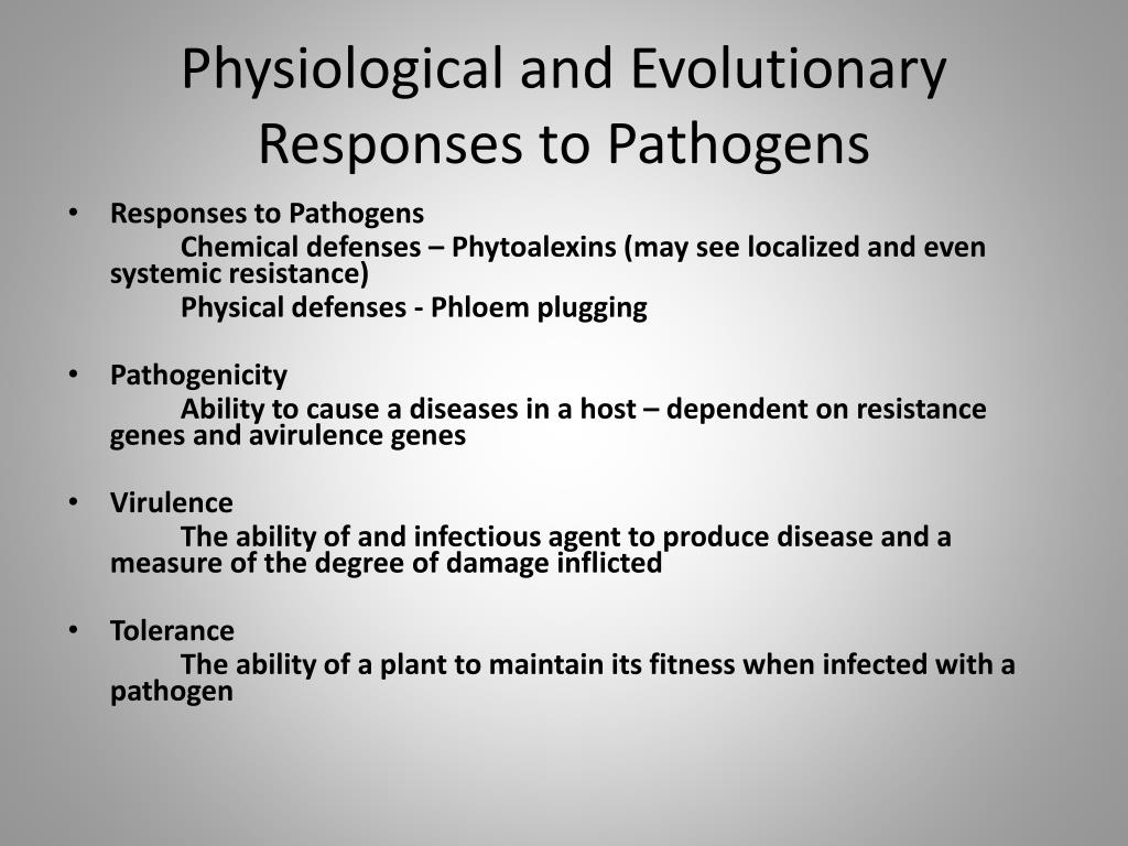 Physiological and Evolutionary Responses to Pathogens