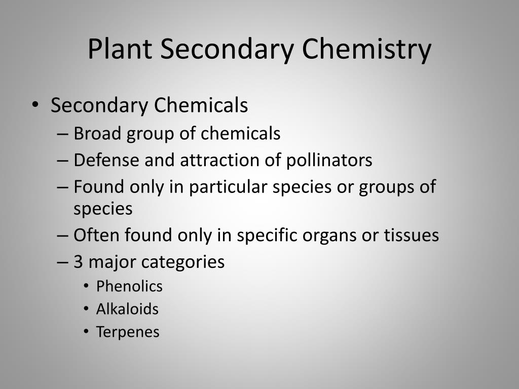 Plant Secondary Chemistry