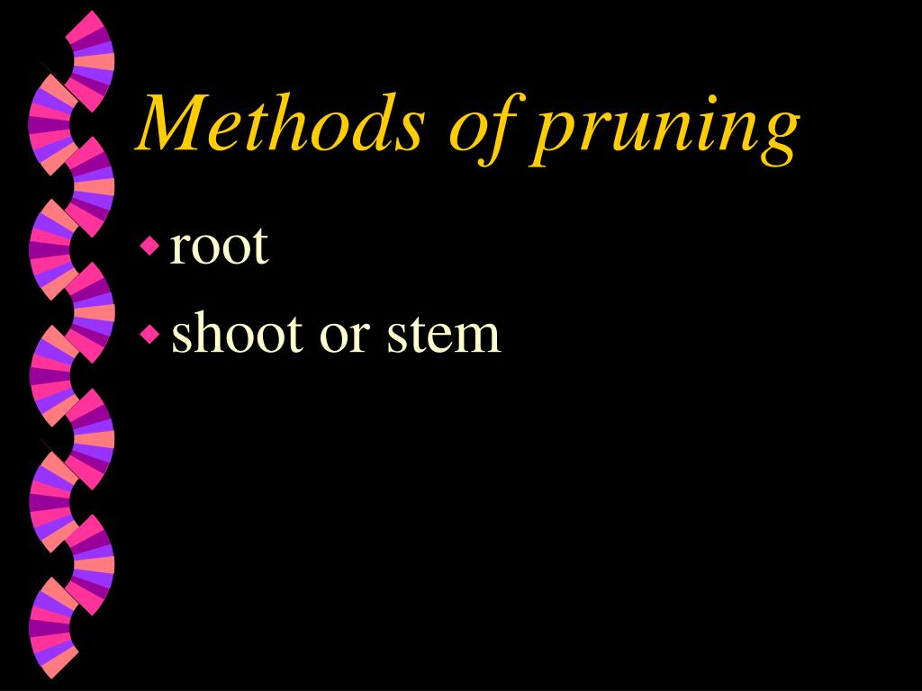 Methods of pruning
