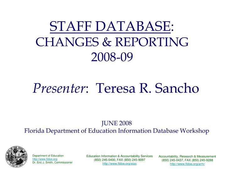 Staff database changes reporting 2008 09 l.jpg