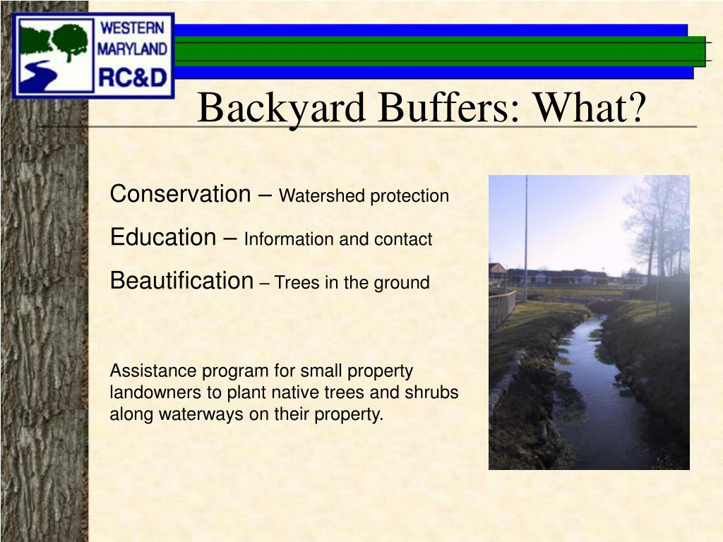 Backyard Buffers: What?