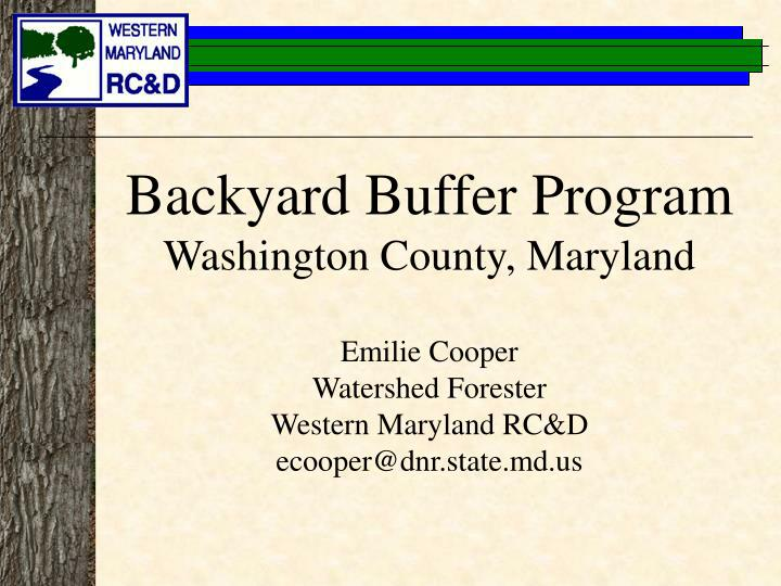 Backyard Buffer Program