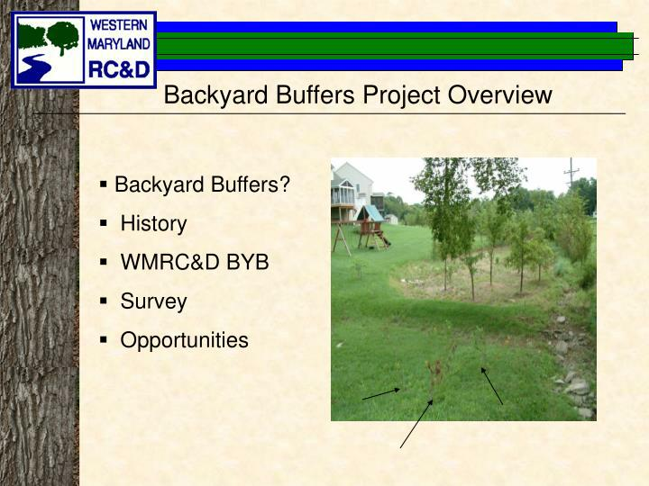 Backyard Buffers Project Overview
