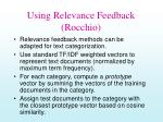using relevance feedback rocchio