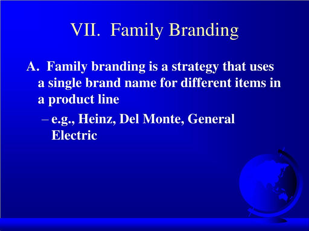 VII.  Family Branding