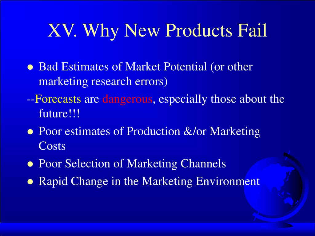 XV. Why New Products Fail