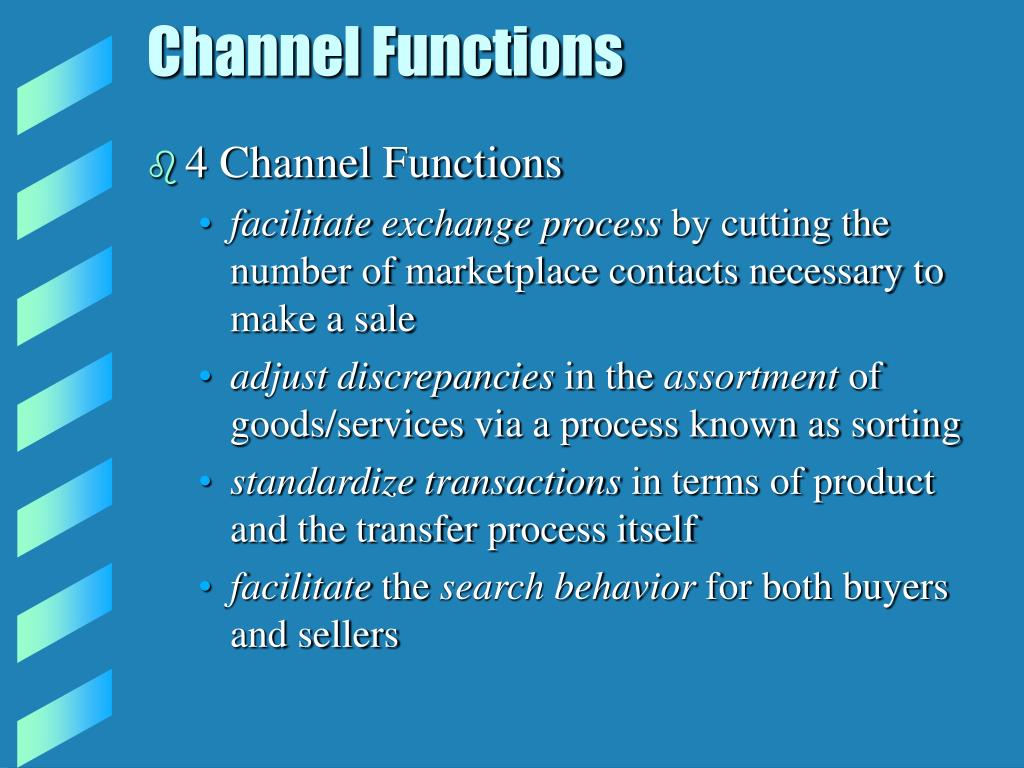 Channel Functions