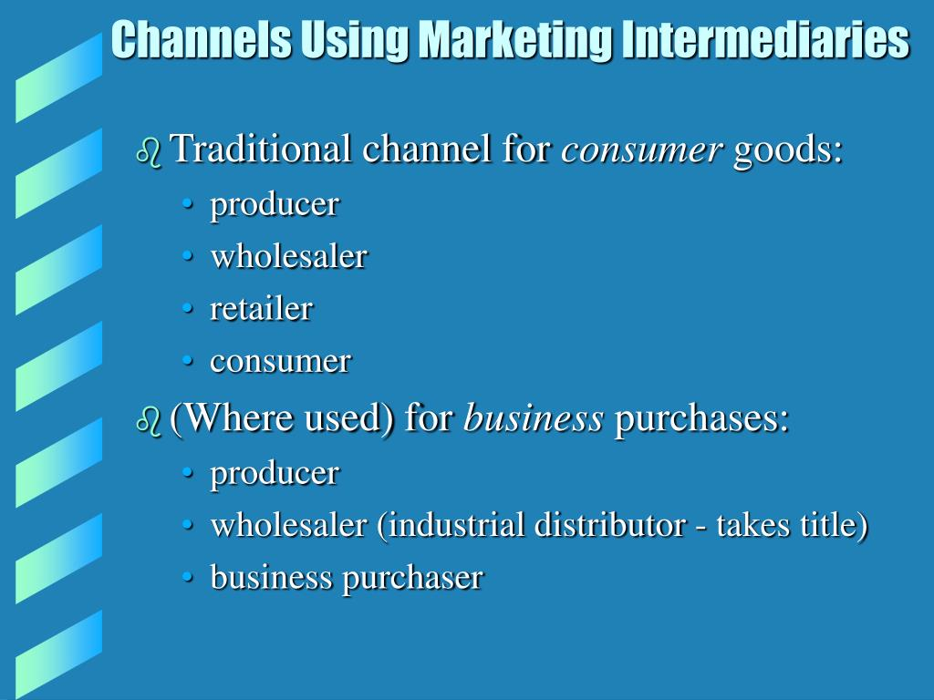Channels Using Marketing Intermediaries