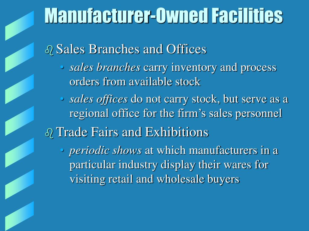 Manufacturer-Owned Facilities