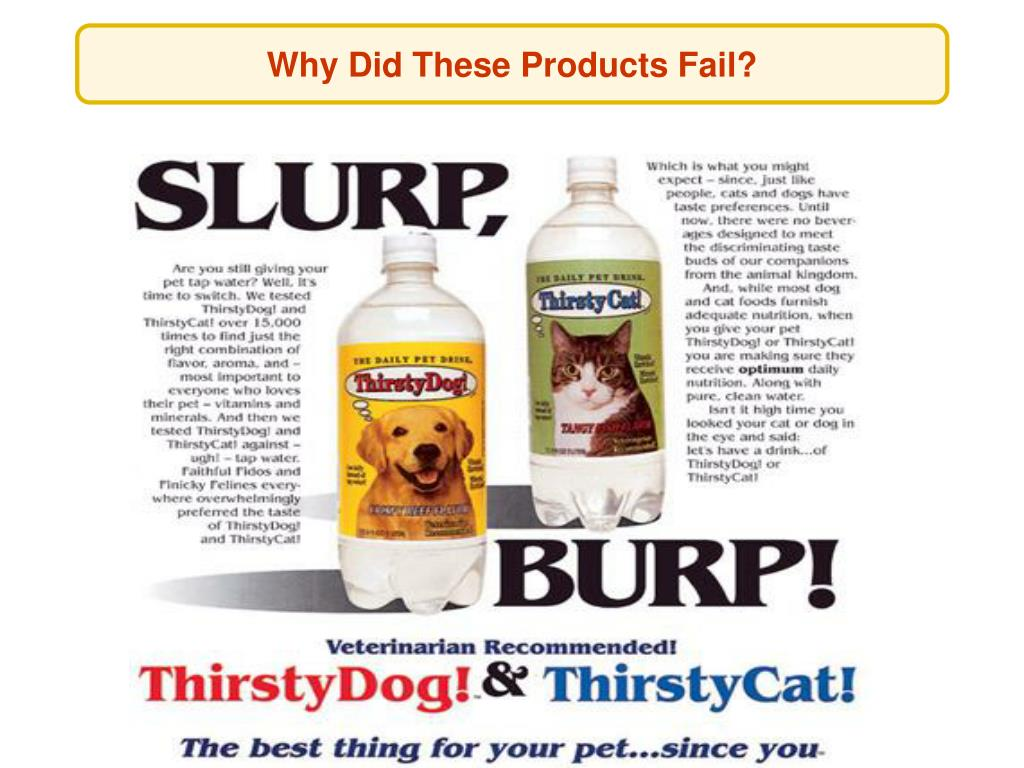 Why Did These Products Fail?