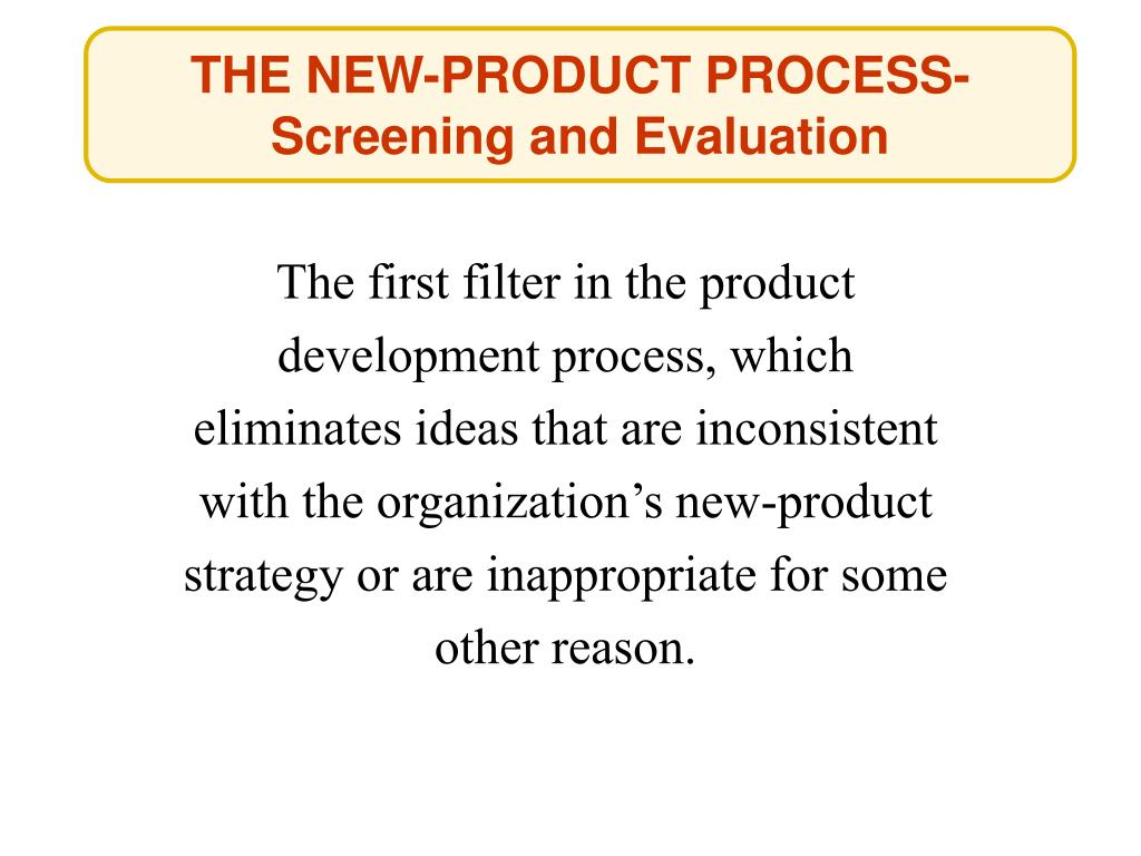 THE NEW-PRODUCT PROCESS-