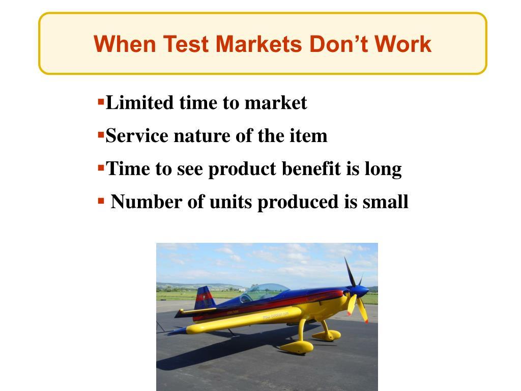 When Test Markets Don't Work