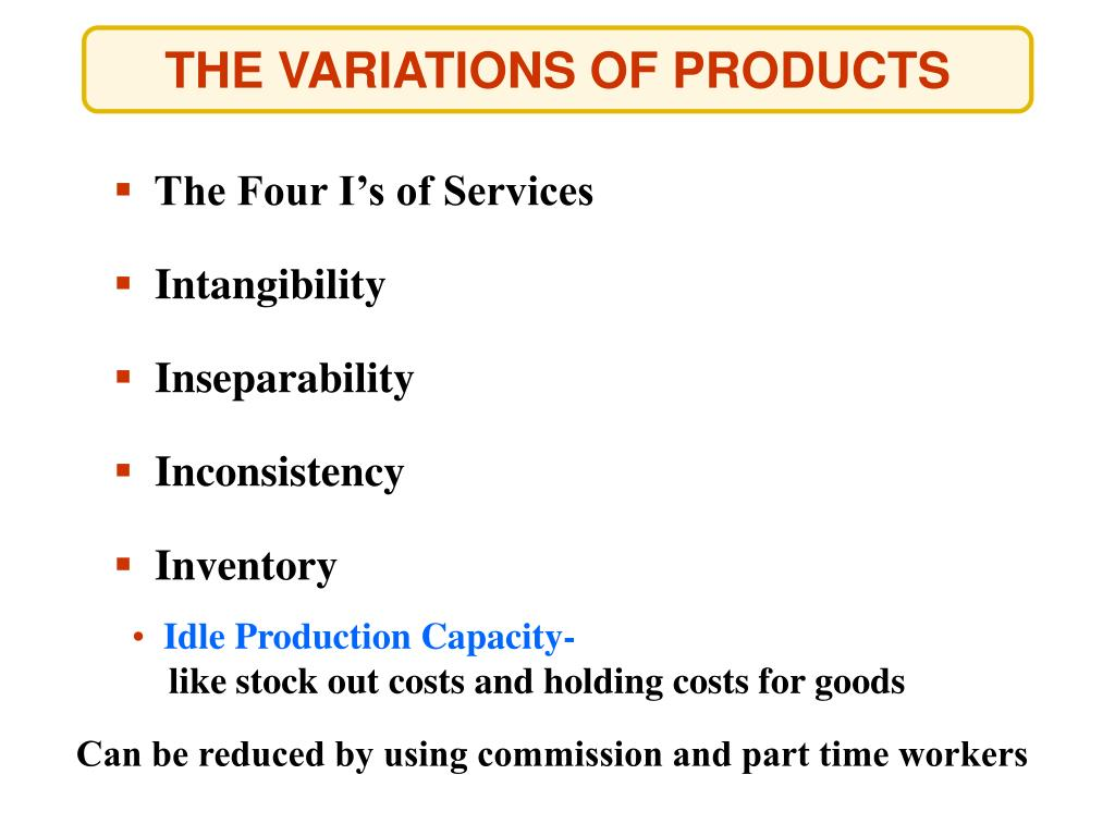 The Four I's of Services