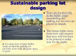 sustainable parking lot design