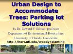urban design to accommodate trees parking lot solutions59