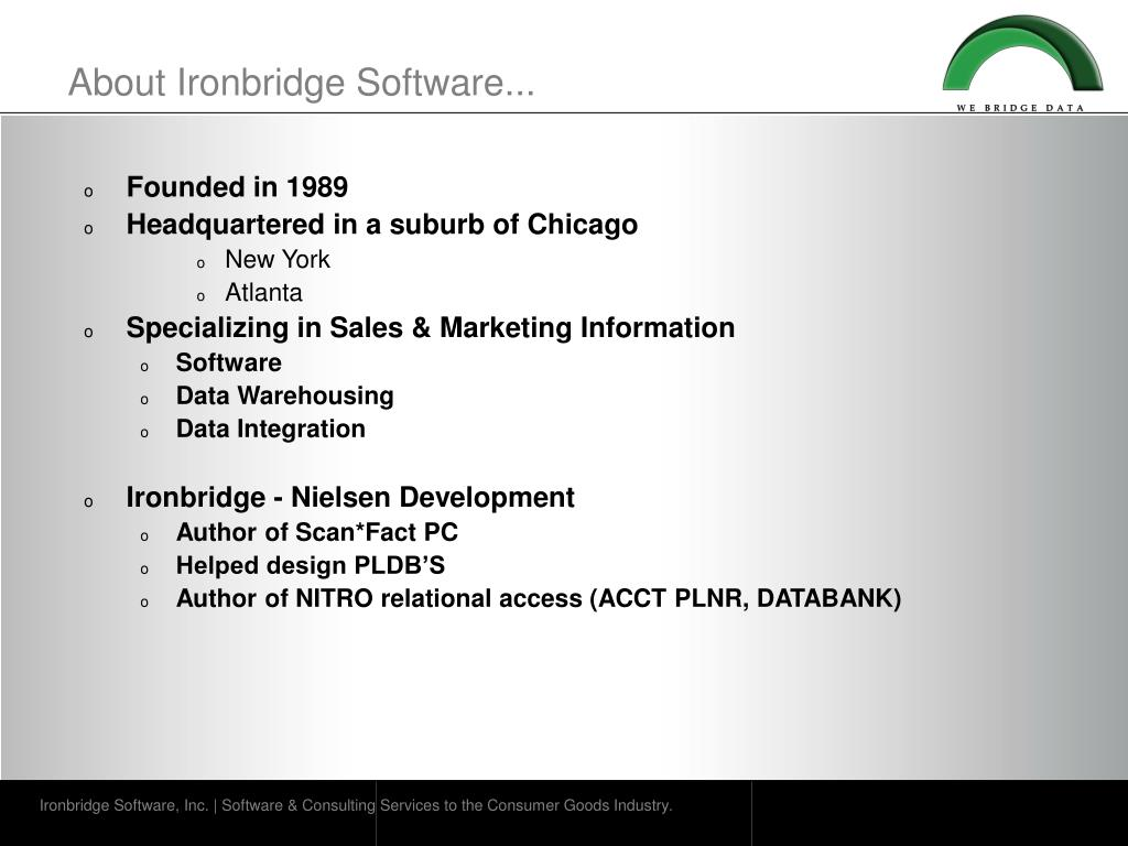 About Ironbridge Software...