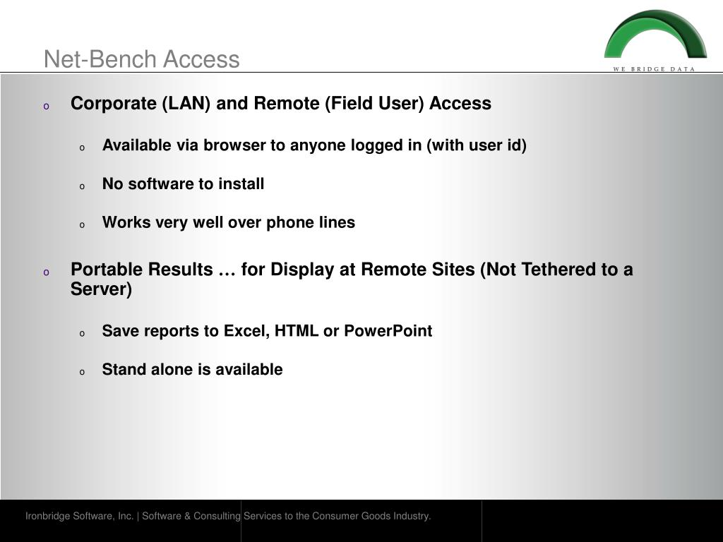 Net-Bench Access