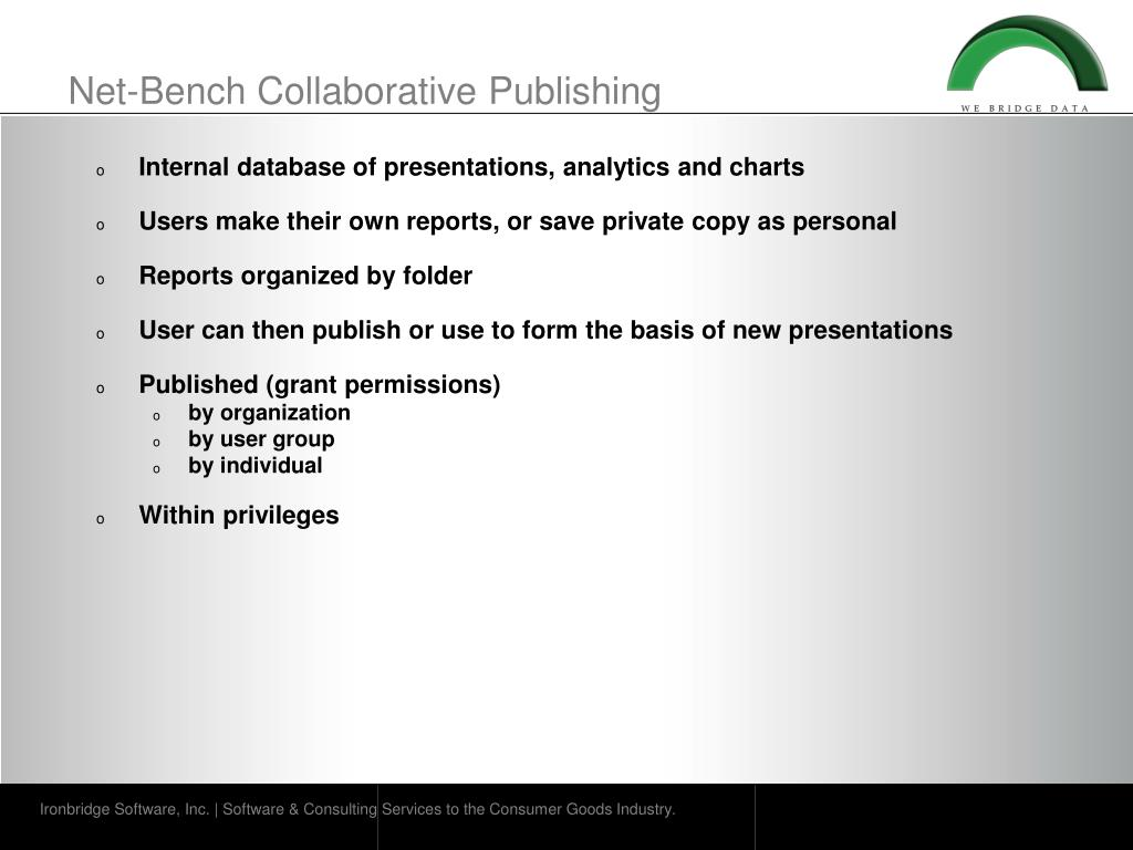 Net-Bench Collaborative Publishing