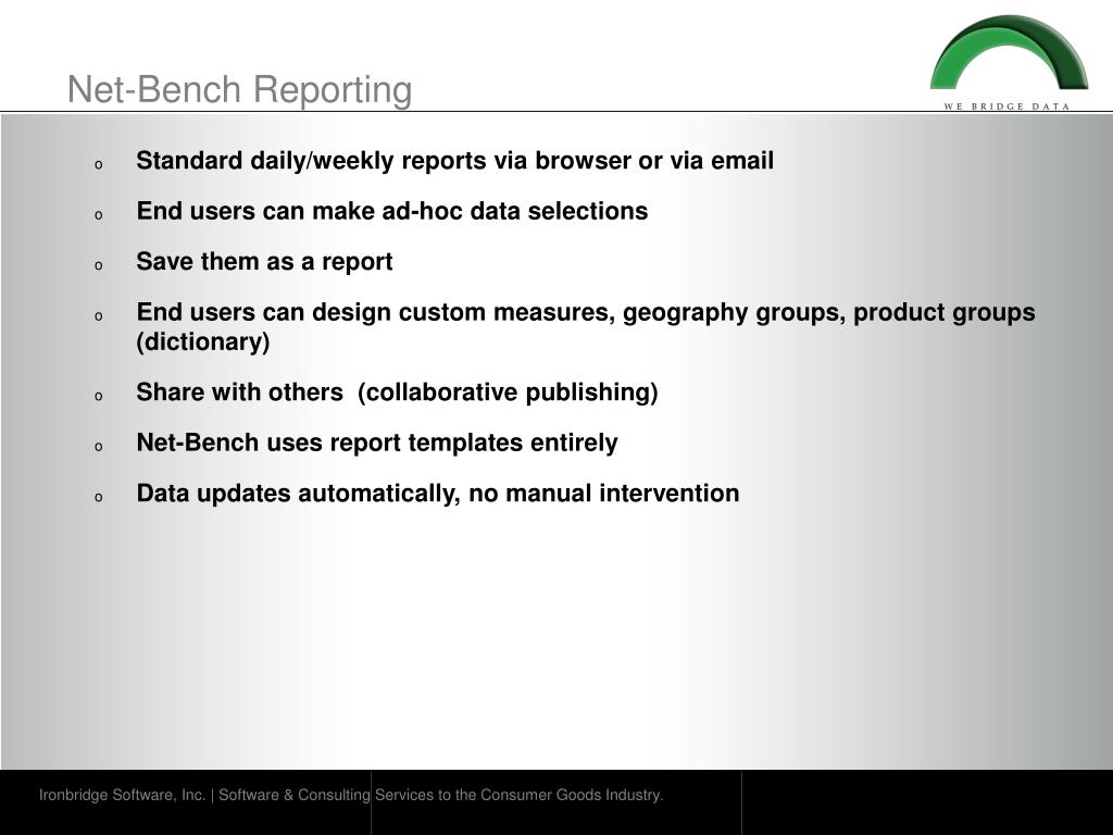 Net-Bench Reporting