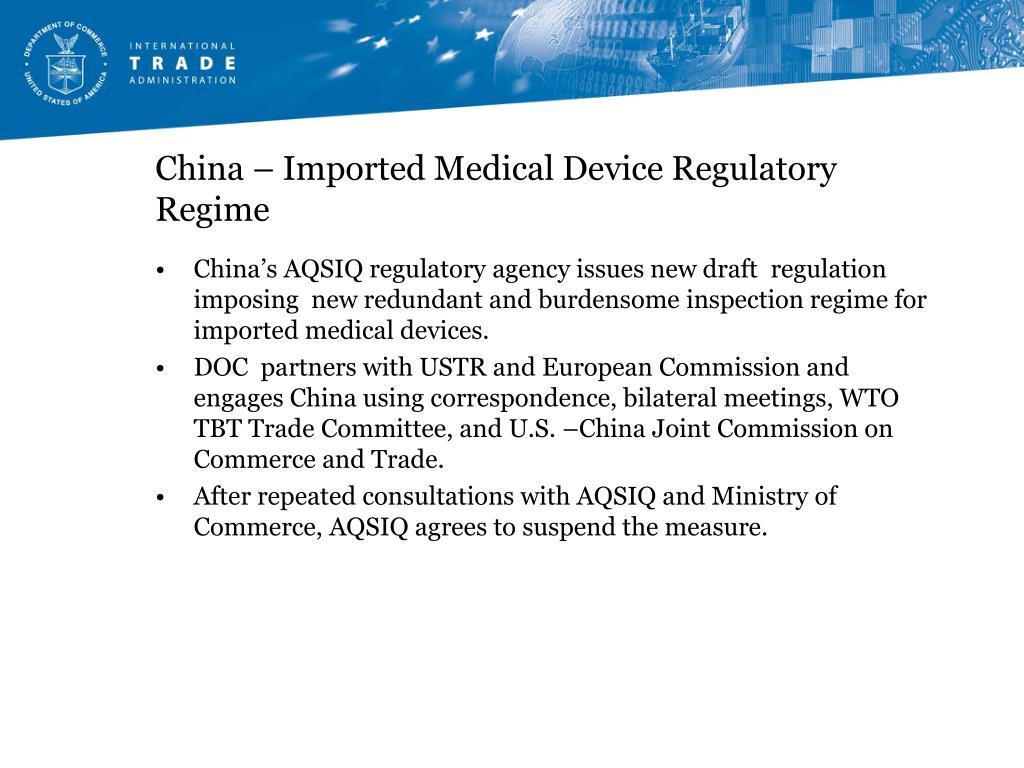 China – Imported Medical Device Regulatory Regime