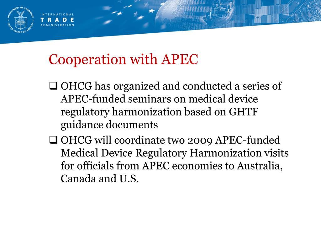 Cooperation with APEC