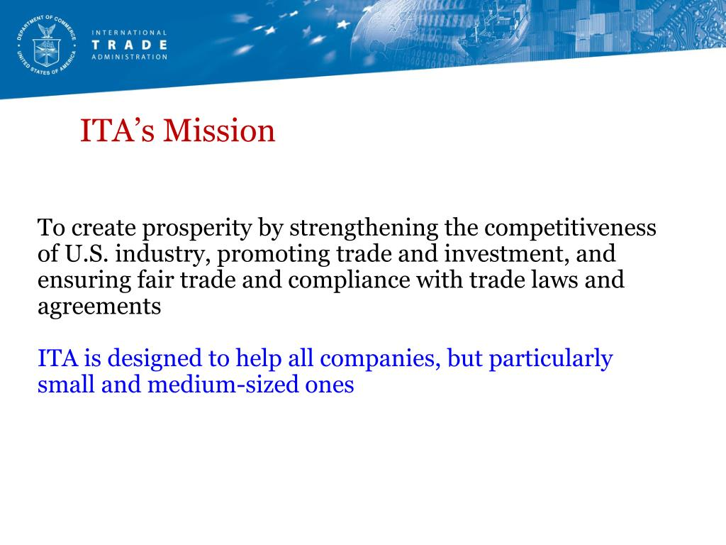 ITA's Mission