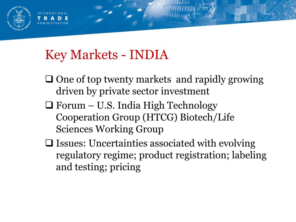 Key Markets - INDIA