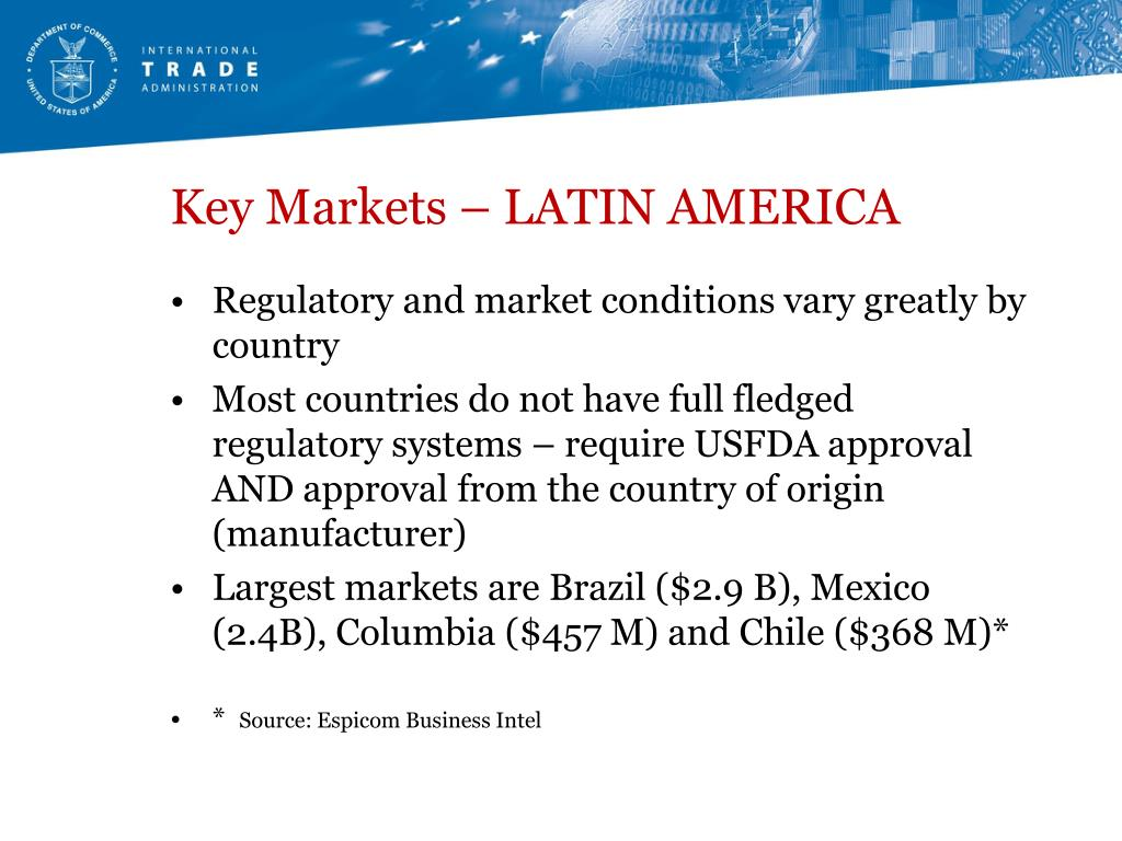 Key Markets – LATIN AMERICA