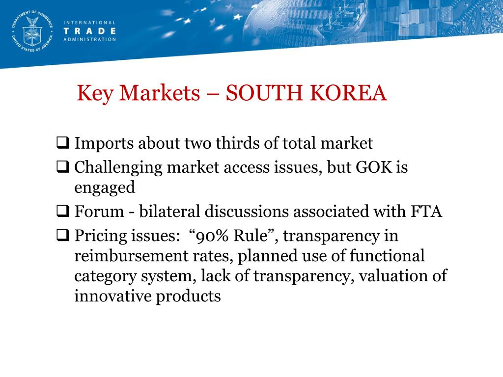 Key Markets – SOUTH KOREA