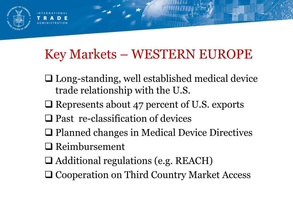 Key Markets – WESTERN EUROPE