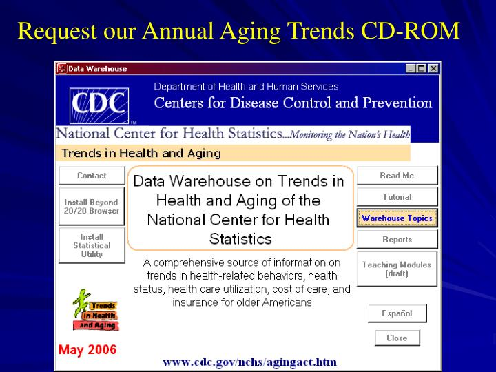 Request our Annual Aging Trends CD-ROM