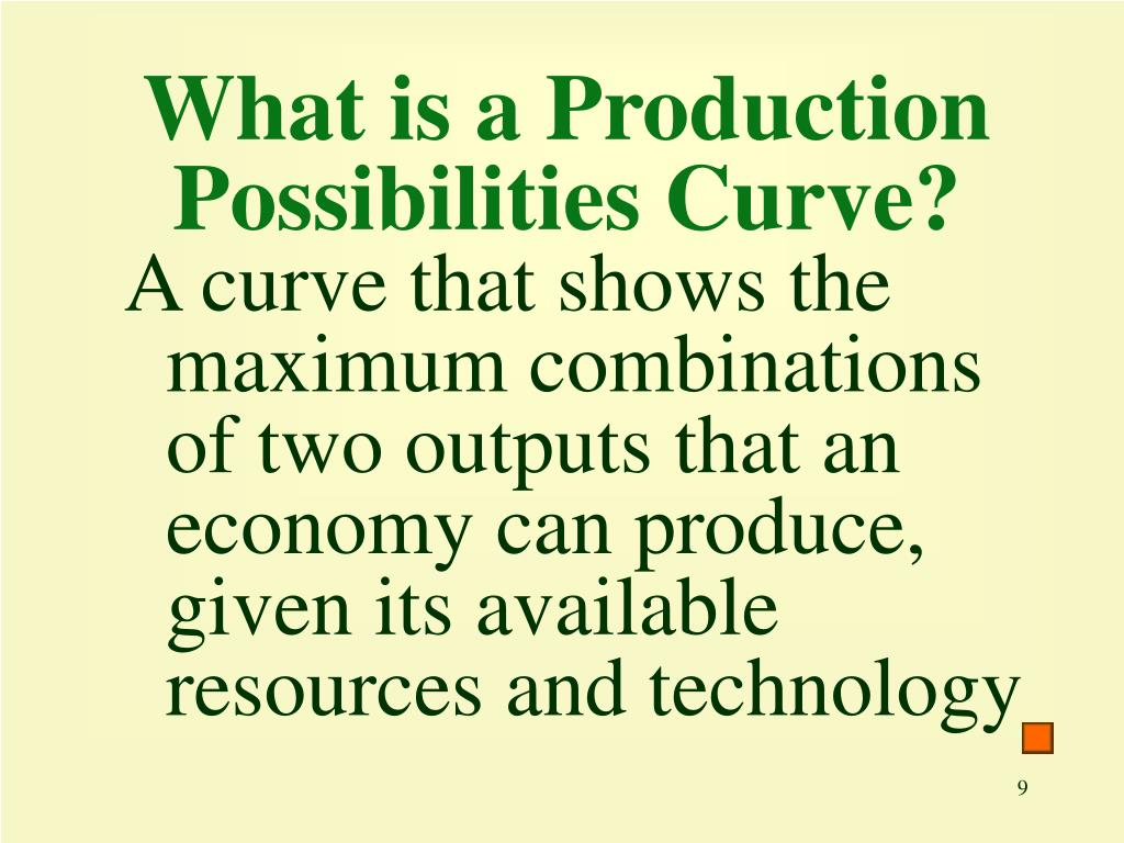 What is a Production Possibilities Curve?