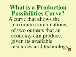 what is a production possibilities curve