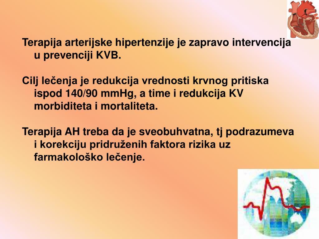 Terapija arterijske hipertenzije je zapravo intervencija u prevenciji KVB.