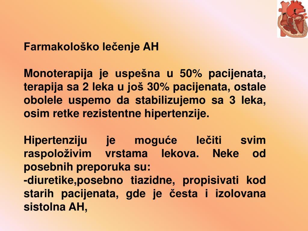 Farmakološko lečenje AH