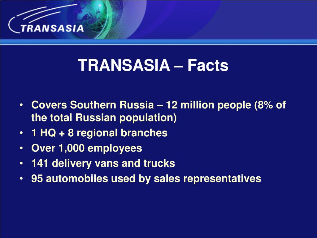 TRANSASIA – Facts